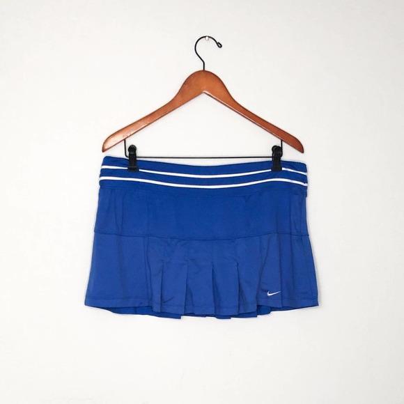 Nike | Dri-Fit Blue White Tennis Skirt Size Large